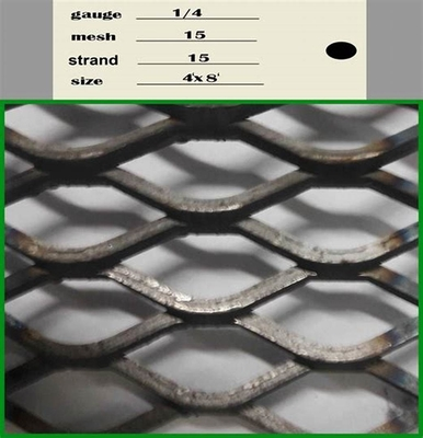 Aluminium Expanded Wire Mesh , Decorative Expanded Metal Mesh 0.3mm-8mm Thickness
