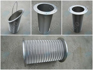 Durable Wedge Wire Filter Elements Stainless Steel Mine Sieving 60-95% Filter Rating