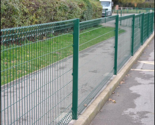 Welded Wire Mesh Chain Link Fence Hot Galvanized Pvc Coated Steel Material