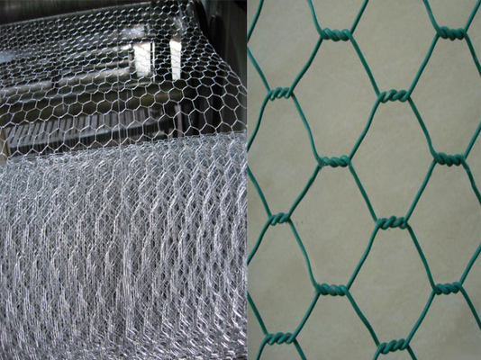 Heavy Hexagonal Chicken Gabion Wire Mesh Panels Pvc Plastic Coated Rustproof