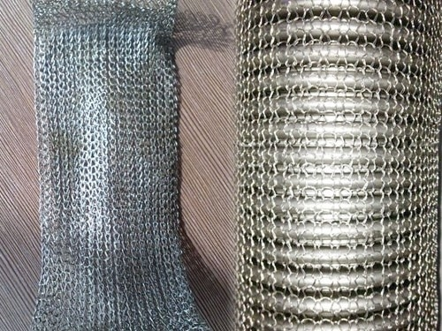 201 304 316 Compressed Knitted Wire Mesh Of Stainless Steel Wire Customized