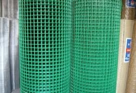Green Color 1X1 PVC Coated Welded Wire Mesh Roll For 0.5-2m Width Long Life
