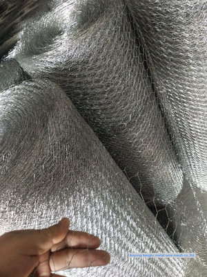 "1"" Opening Reverse Twists 4.0mm Hexagonal Wire Mesh"